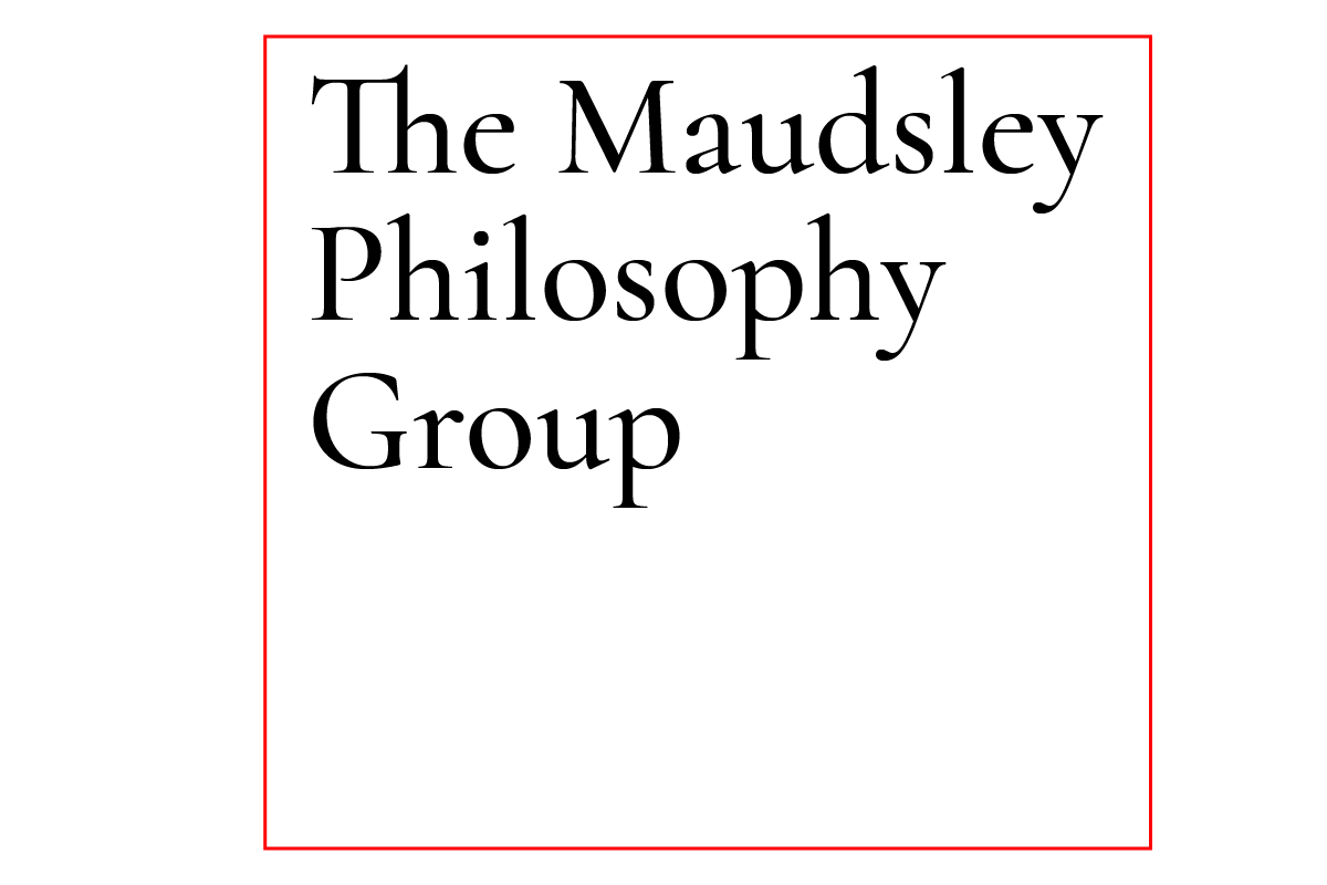 Maudsley Philosophy Group